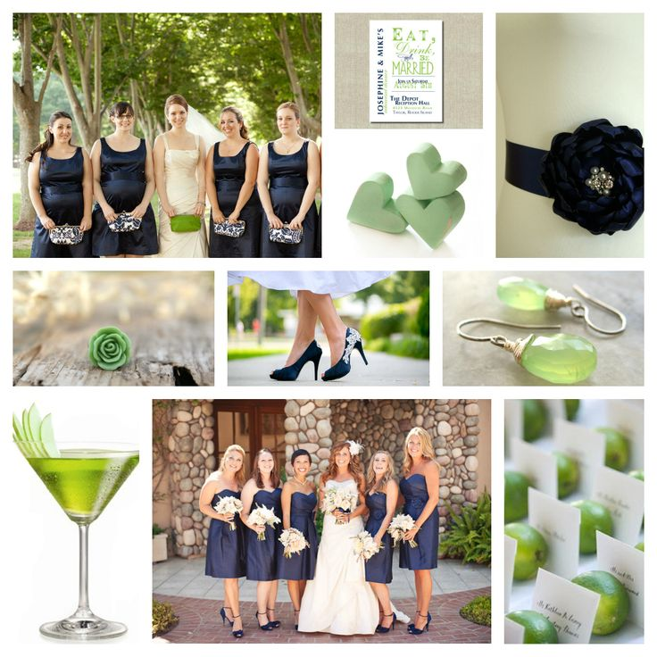 green and navy blue wedding | navy blue and lime green wedding inspiration board | Paper Angel ...