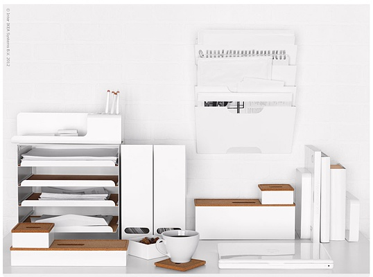 White desk organizers office pinterest - Desk organizer white ...