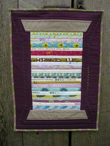 Variegated Thread Selvage Mini Quilt