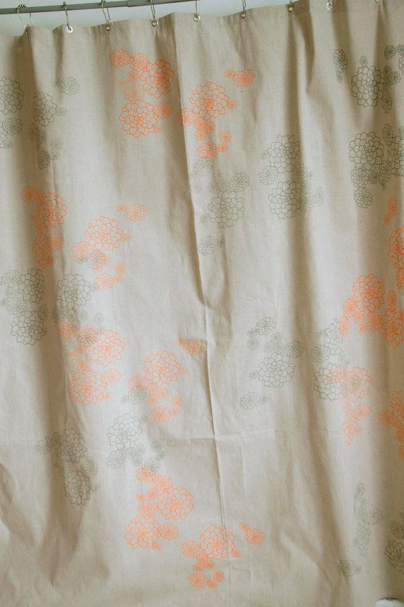 Curtains Ideas gray and orange shower curtain : living room curtains