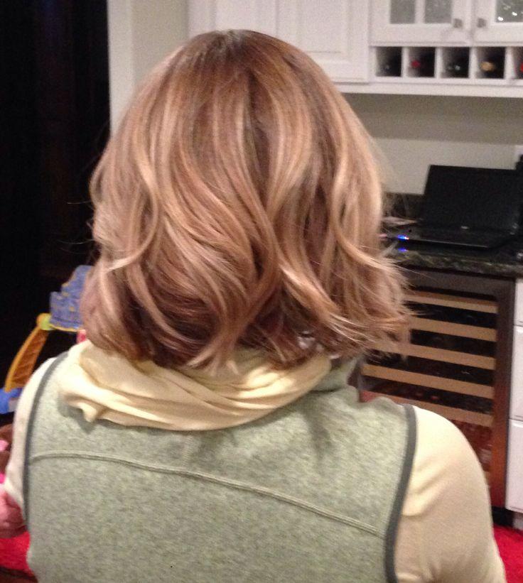Back of wavy angled bob | Hair Inspiration | Pinterest