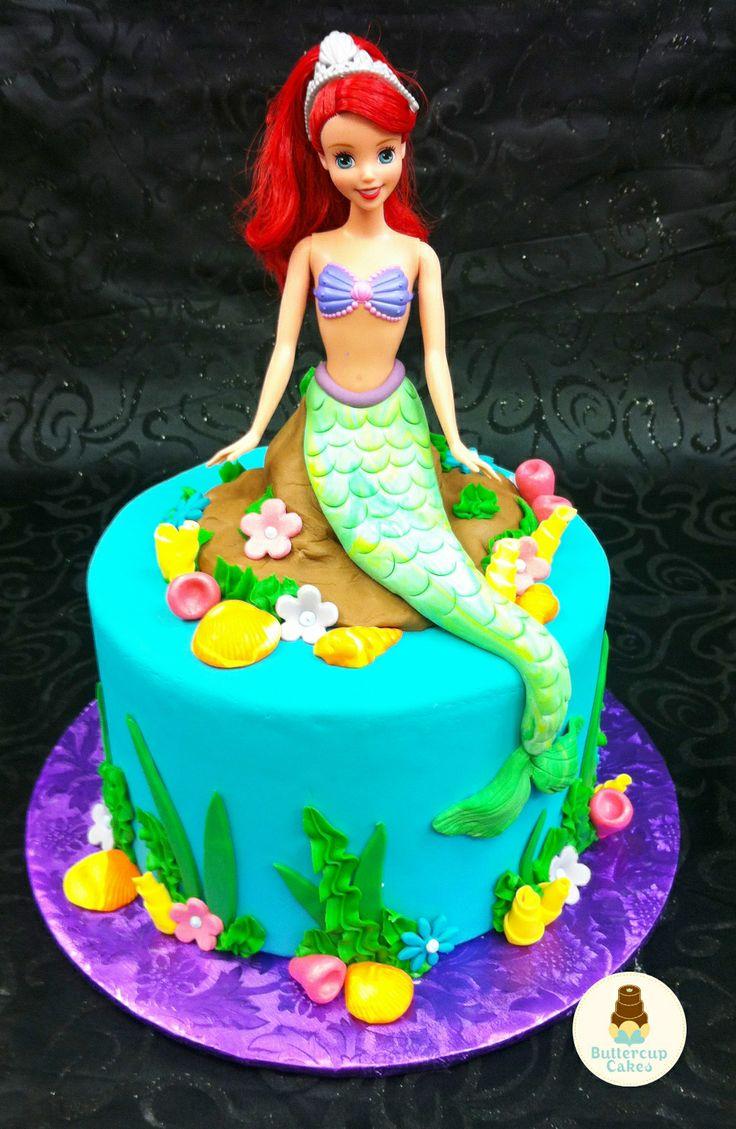 Little Mermaid Birthday Cake  Cartoon & Character Cakes  Pinterest