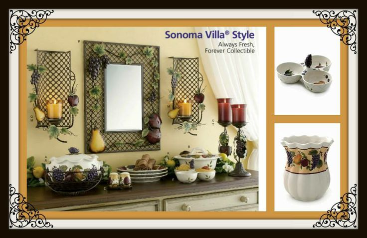 More Sonoma Villa Stoneware Decor