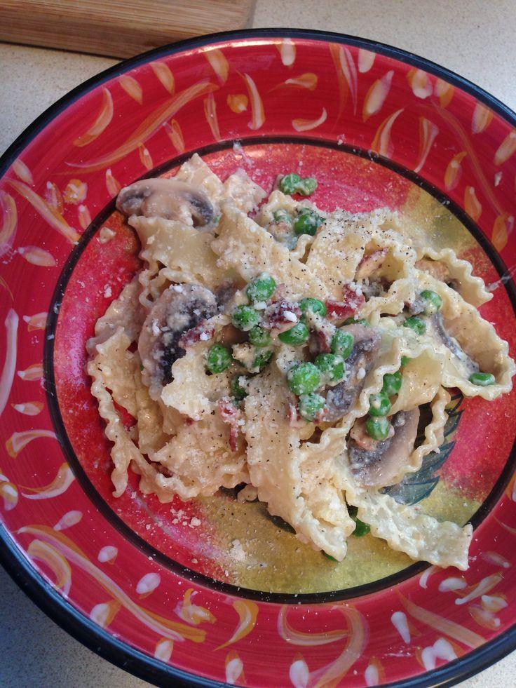 Pasta carbonara with peas | Food | Pinterest