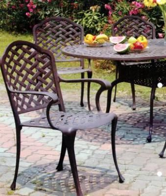 what a beautiul finish the cast iron patio furniture has the garden