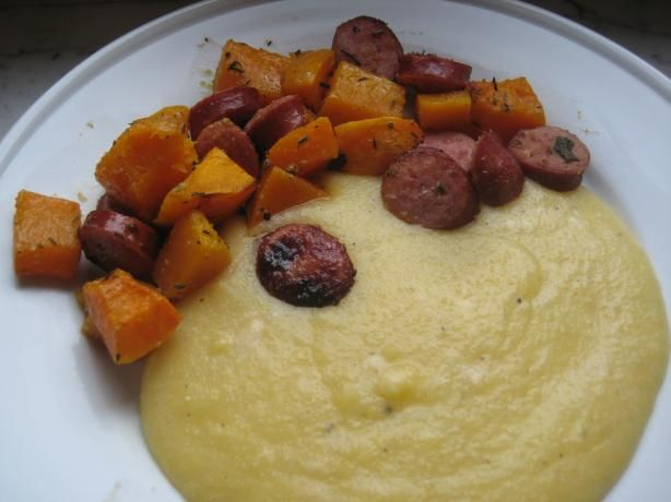 Herb-Roasted Butternut Squash and Sausages | Recipe