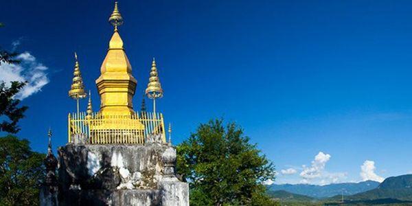 Ngọn tháp trên đỉnh núi Phou Si