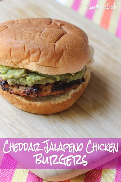 Cheddar Jalapeno Chicken Burgers | Favorite Recipes | Pinterest