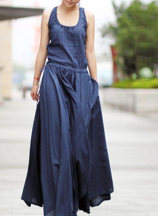 Flax Linen Sleeveless Dress