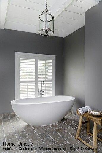 Raam Open In Badkamer ~ Shutters vrijstaand bad grijs  Bathroom  Pinterest