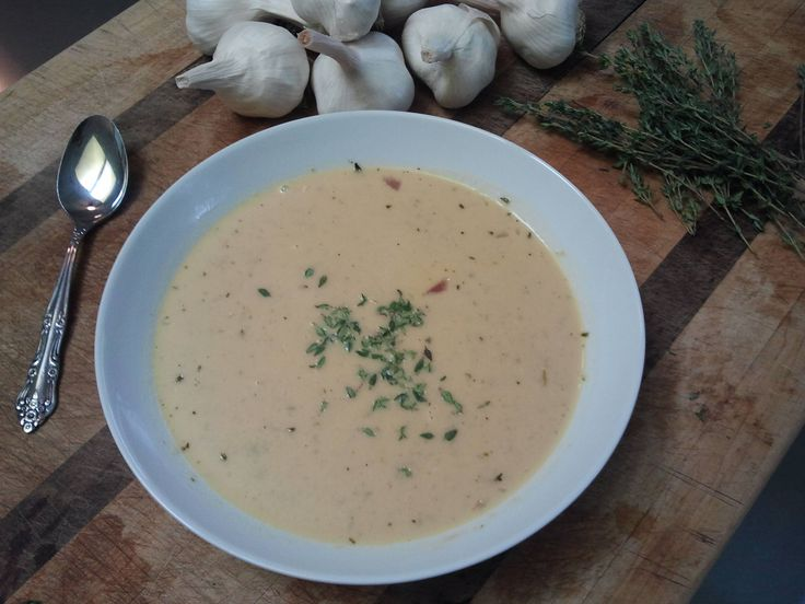 44 clove Garlic Soup | Fooood | Pinterest
