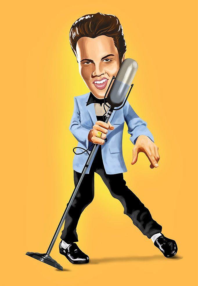 Caricatura de Elvis Presley.