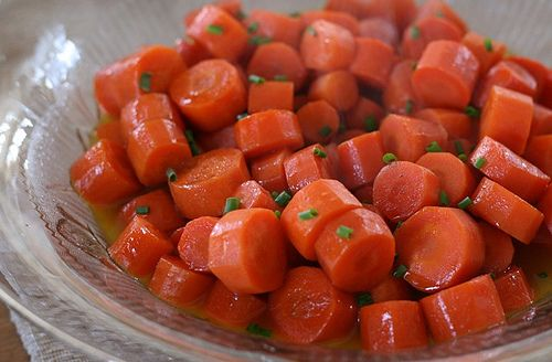 Whiskey-glazed carrots (I have also substituted the whiskey with ...