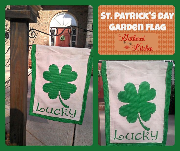 st patricks day garden flag