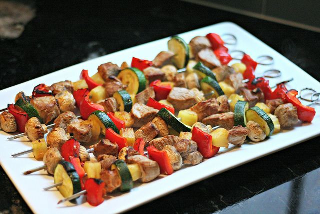 tropical pork pineapple kebabs | Grilling Hot! | Pinterest
