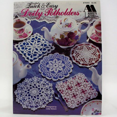 Annies Attic Crochet : Crochet Doily Potholders Annies Attic Pattern Leaflet 879303 eBay
