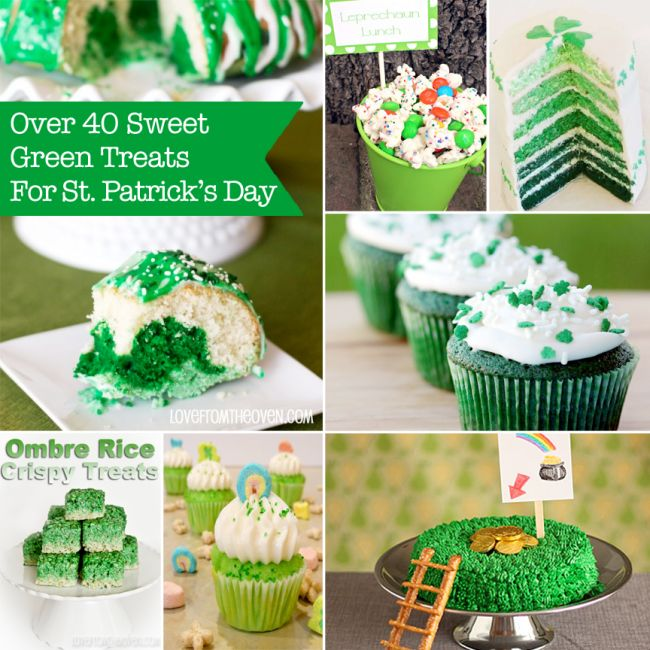 Over 40 Sweet Green Treats for St. Patrick's Day.