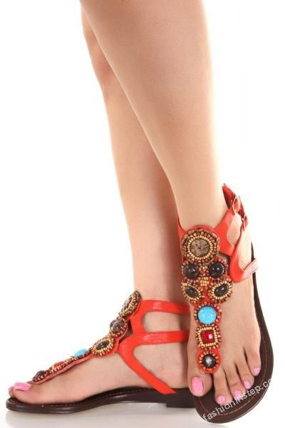 Latest Trend of Summer Shoes 2012 - Sandals & Flat Shoes e