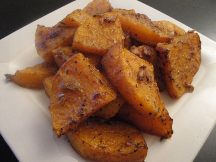 Sweet & Spicy Roasted Butternut Squash | Get in ma bellaay | Pinterest
