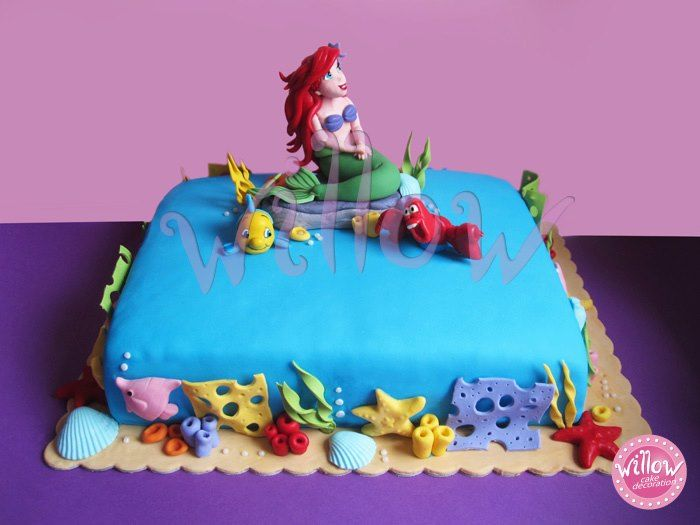 Little mermaid cake cake decorating pinterest for Ariel cake decoration
