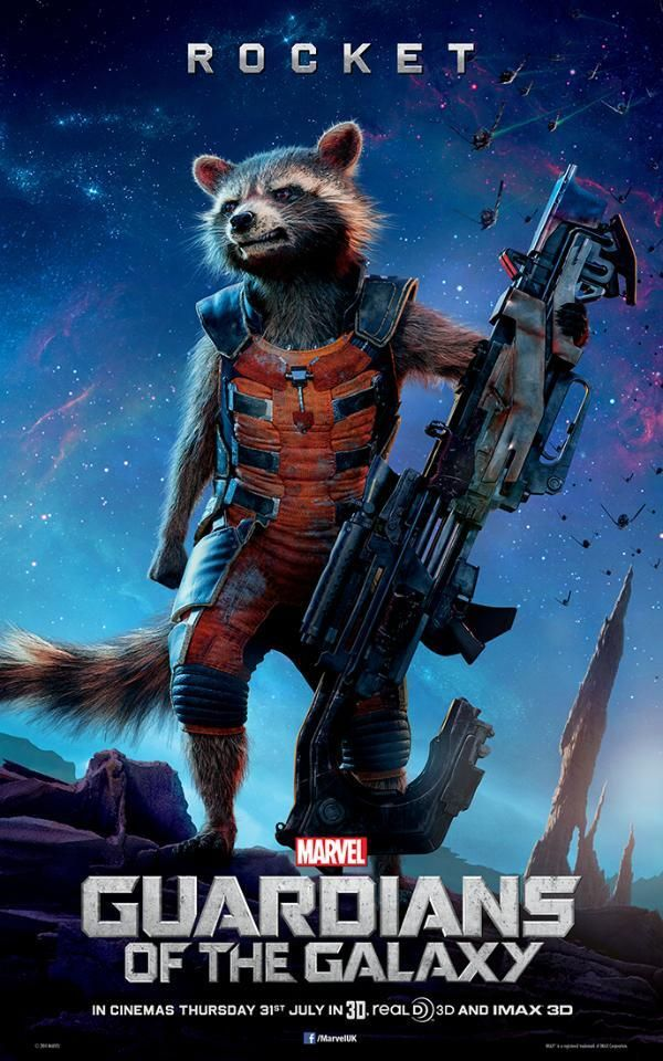 Guardians Of The Galaxy: New Rocket Raccoon, Groot, And Gamora Character Posters   Comicbook.com