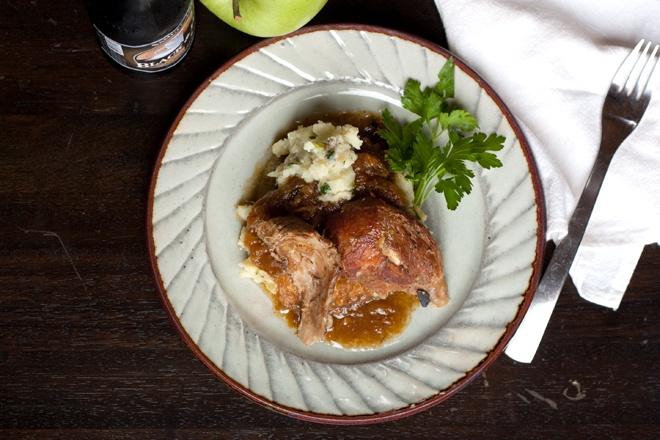 ... apple confit cider braised pork cider braised pork shoulder roman pork