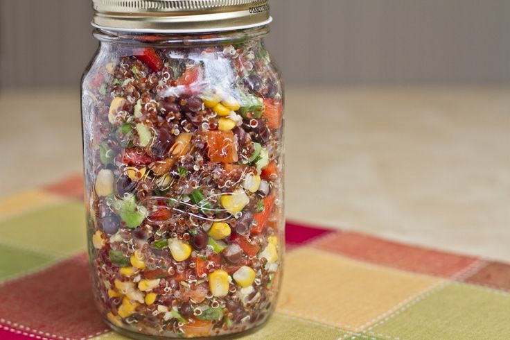 Red Quinoa and Black Bean Vegetable Salad - oh she glows