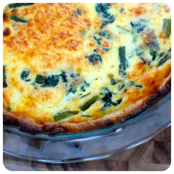 Spinach, Asparagus & Feta Quiche | And Her Little Dog Too