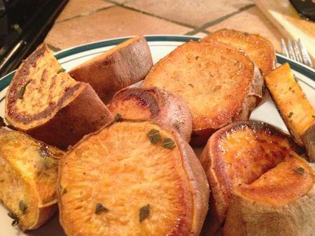 herb roasted sweet potatoes | NOM | Pinterest