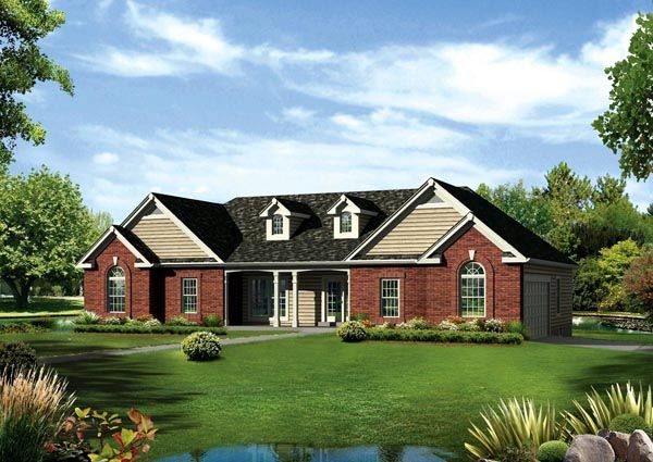 Cape Cod Colonial Country Ranch Traditional House Plan 95891