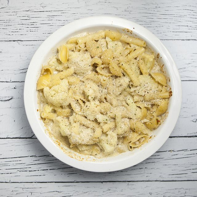 Three Cheese Pasta Shells And Cauliflower Recipe — Dishmaps