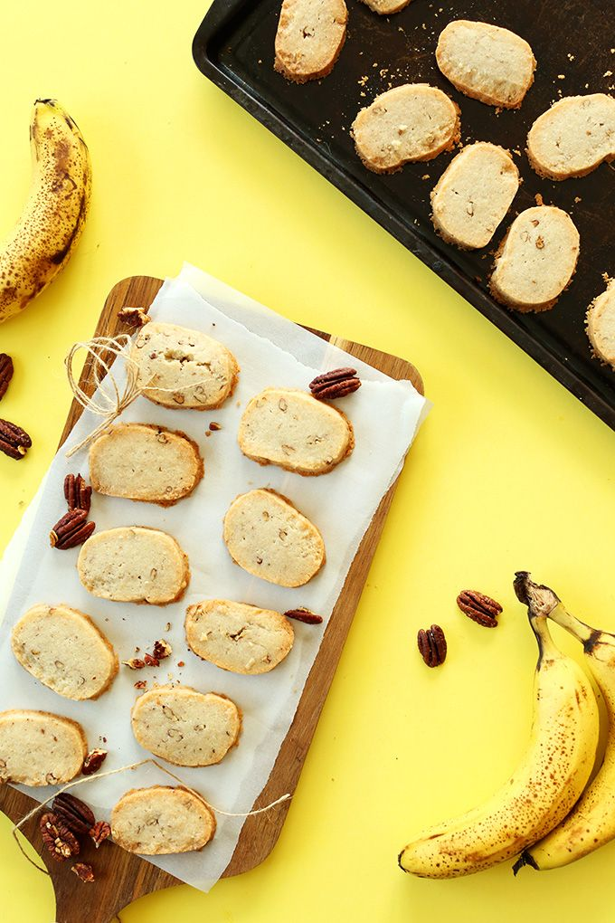 vegan & gluten free banana pecan shortbread