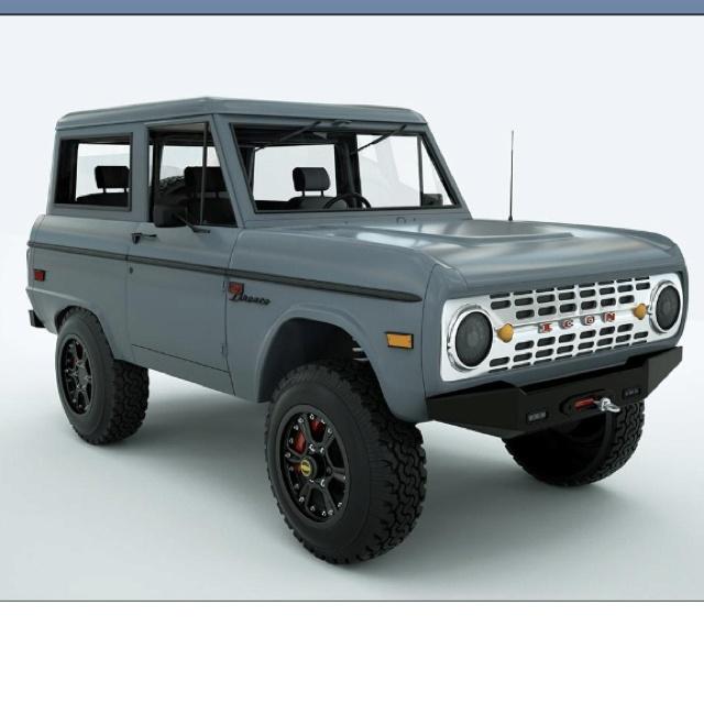 Icon Motors Ford Bronco 1 Vehicles Pinterest
