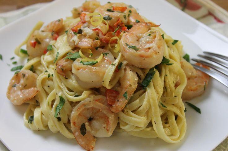 Lemon & Herb Linguine With Shrimp | pasta | Pinterest