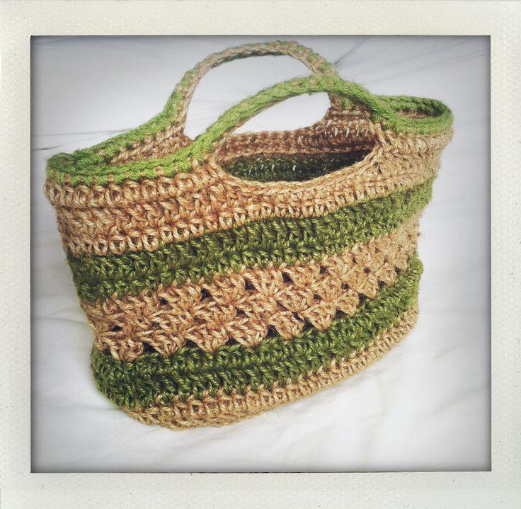 Made: crochet jute basket (own pattern) Crochet ...