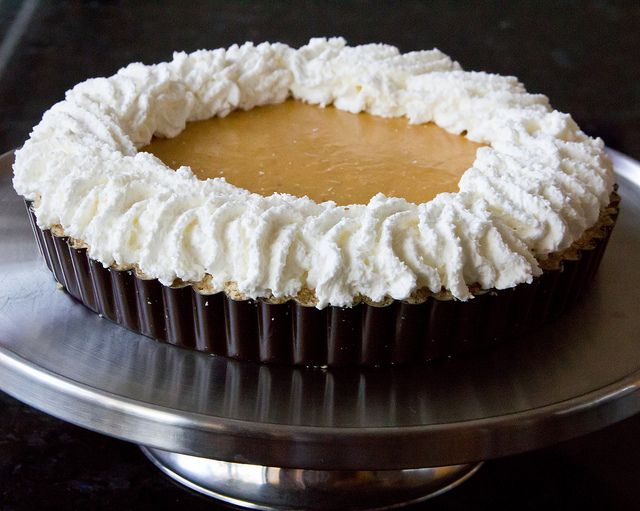 No-Bake Pumpkin Tart with Maple-Pecan Whipped Cream
