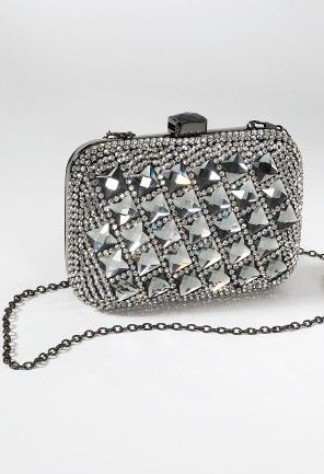 Front Crystal Box Bag from Camille La Vie and Group USA prom clutch