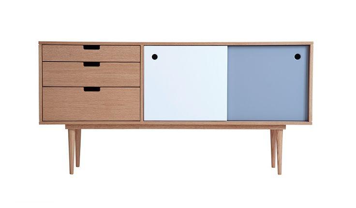 Sideboard - Eiche/Grau/Weiß Kann Design  For the Home  Pinterest