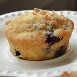 Mango Blueberry Muffins with Coconut Streusel, photo by Blender Woman.