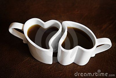 Two Heart Shaped Cups Of Coffee Valentine 39 S Day Pinterest