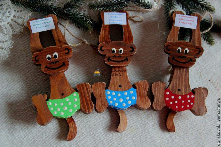 Новогодние игрушки в год обезьяны своими руками