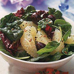 cheese tomatoes and mint radicchio grapefruit and spinach salad ...