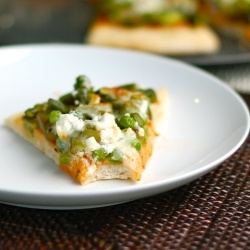 Asparagus, Pea, and Goat Cheese Pizza: a doughy, cheesy reason to love ...
