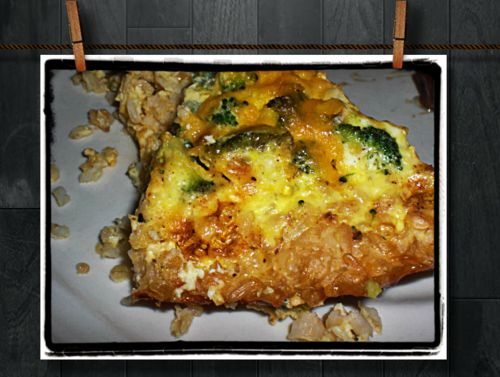 Broccoli quiche with brown rice crust | Fabulous food | Pinterest