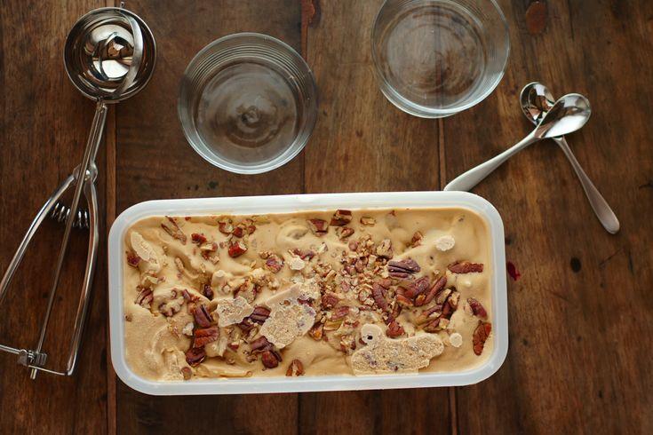 Poires au Chocolat: Buttered Pecan & Butterscotch Ice Cream