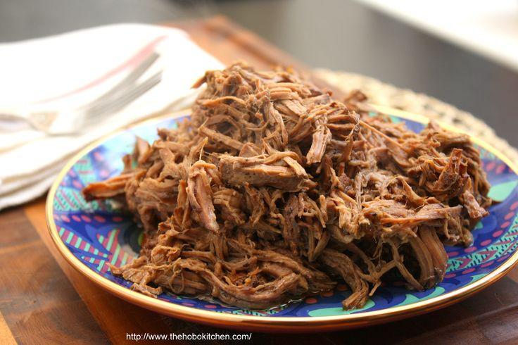 Crockpot Balsamic Shredded Beef
