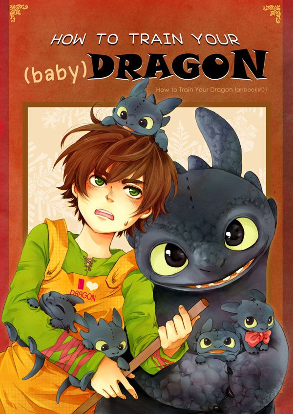 Super cute!!!!  How to Train Your baby Dragon by Kadeart0 ...  How to train your dragon, toothless, hiccup, night fury baby, night fury, dragon, viking, baby