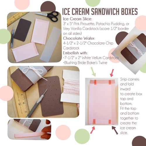 Just in time for summer--ice cream sandwich and push-up pop gift boxes!