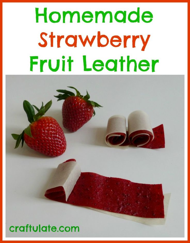 Homemade Strawberry Fruit Leather - Craftulate