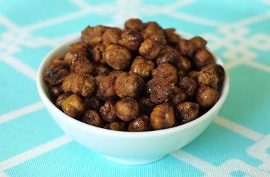Roasted Honey Cinnamon Chickpeas — Punchfork